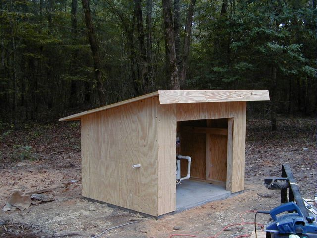 Tent with garage